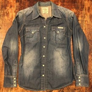 Chambray Lucky Brand Pearl Snap Shirt